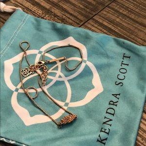 Kendra Scott Rose Gold Drusy Stone Necklace